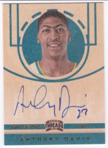 2012-13 Panini Threads Anthony Davis Autograph