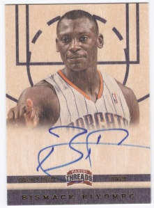2012-13 Panini Threads Bismack Biyombo Autograph