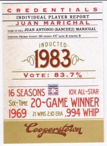 2012 Panini Cooperstown Juan Marichal Credentials