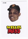 2012 Topps Archive Willie Mays Sticker