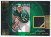 2013 Topps Chasing the Dream Tom Milone Jersey