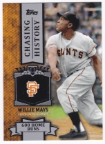 2013 Topps Chasing History Willie Mays