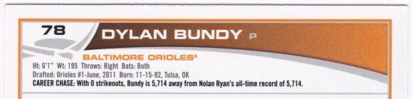 2013 Topps Dylan Bundy
